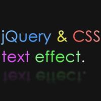 Эффект неонового текста с помощью CSS и JQuery